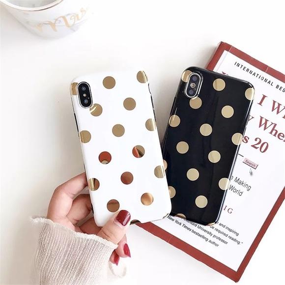 iphone xr case polka dot